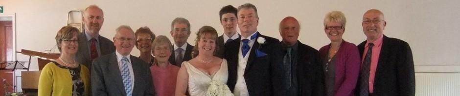 Sarah & Paul wedding with walkers